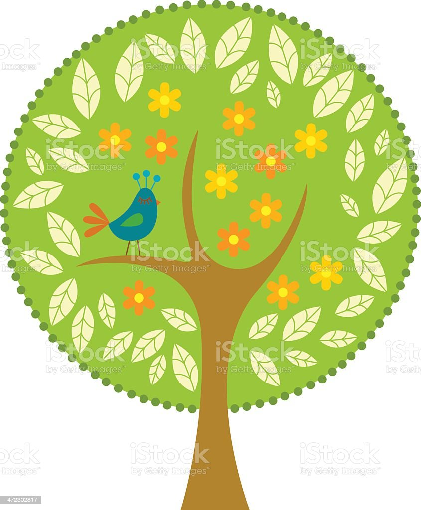Tree royalty-free tree stock vector art & more images of bird