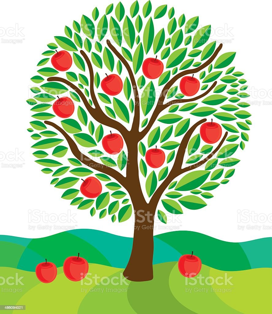 Tree. Vector illustration vector art illustration