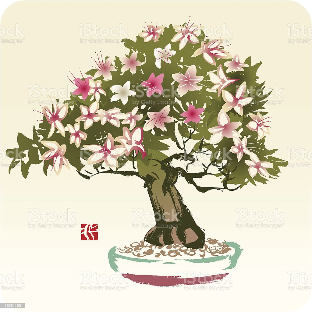 Tree with Flowers royalty-free stock vector art
