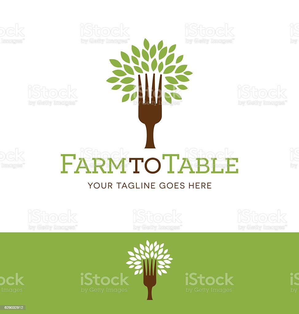 tree with fork trunk icon for creative use - Illustration vectorielle