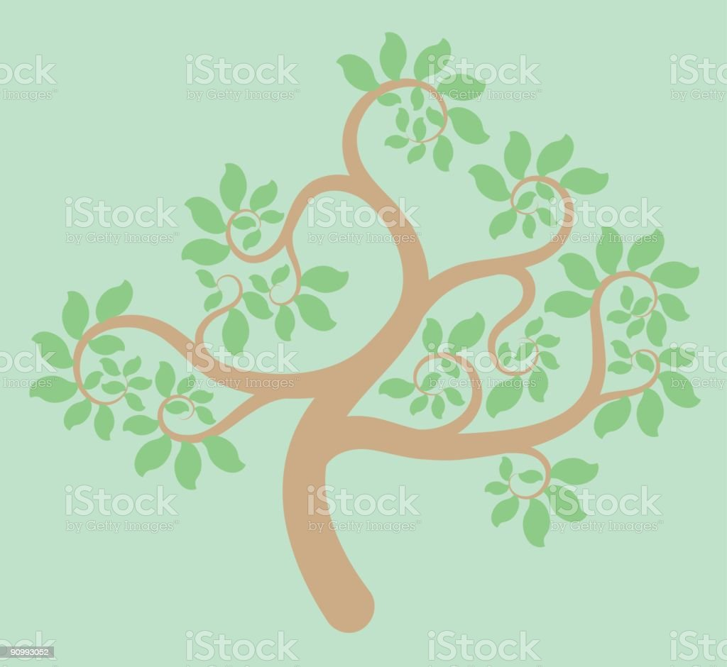 Tree with Leaves royalty-free stock vector art