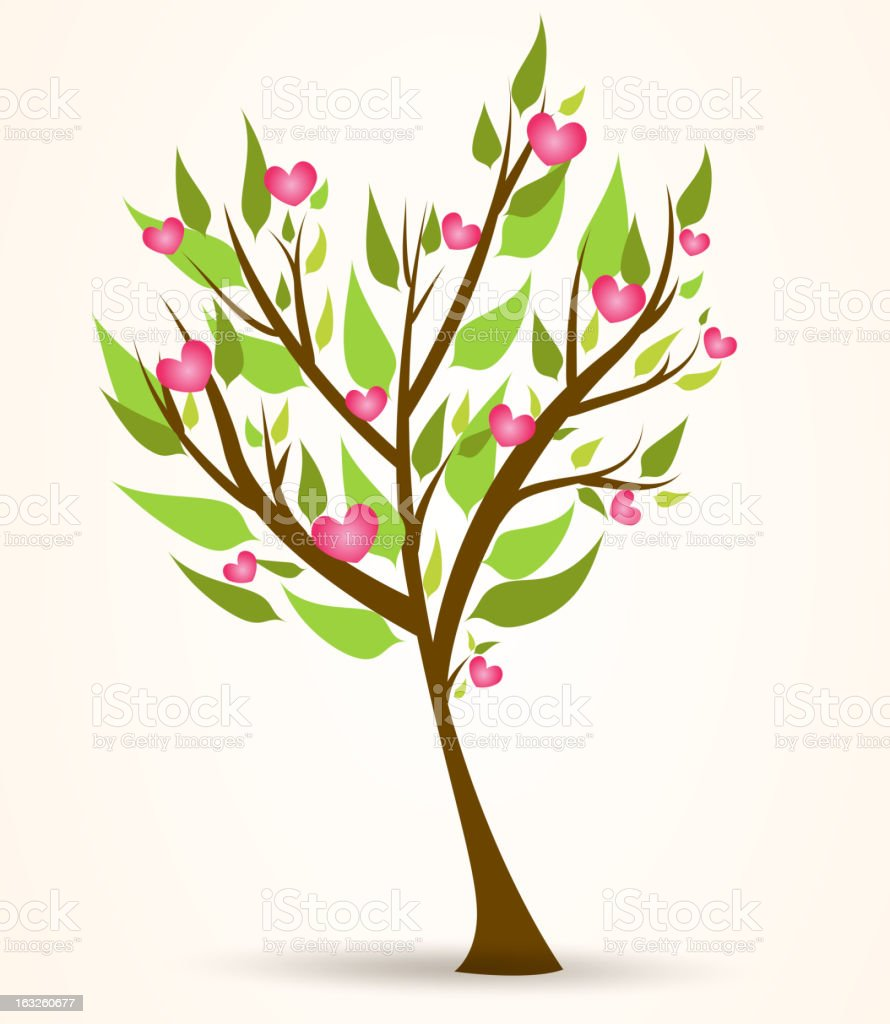 Tree with pink hearts royalty-free tree with pink hearts stock vector art & more images of abstract