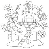 Tree House Coloring Pages at GetDrawings.com | Free for ...
