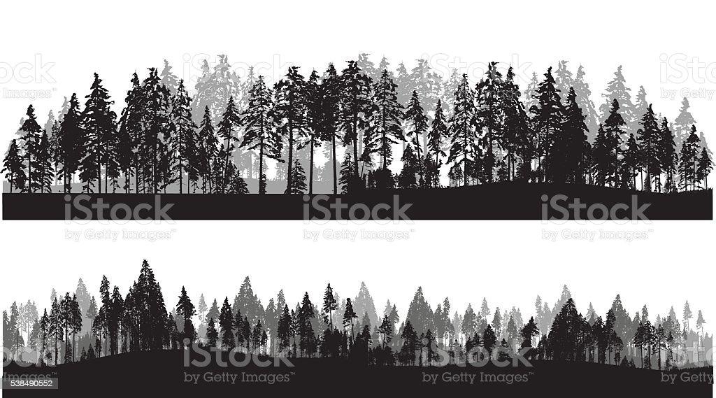Treeline-Header – Vektorgrafik