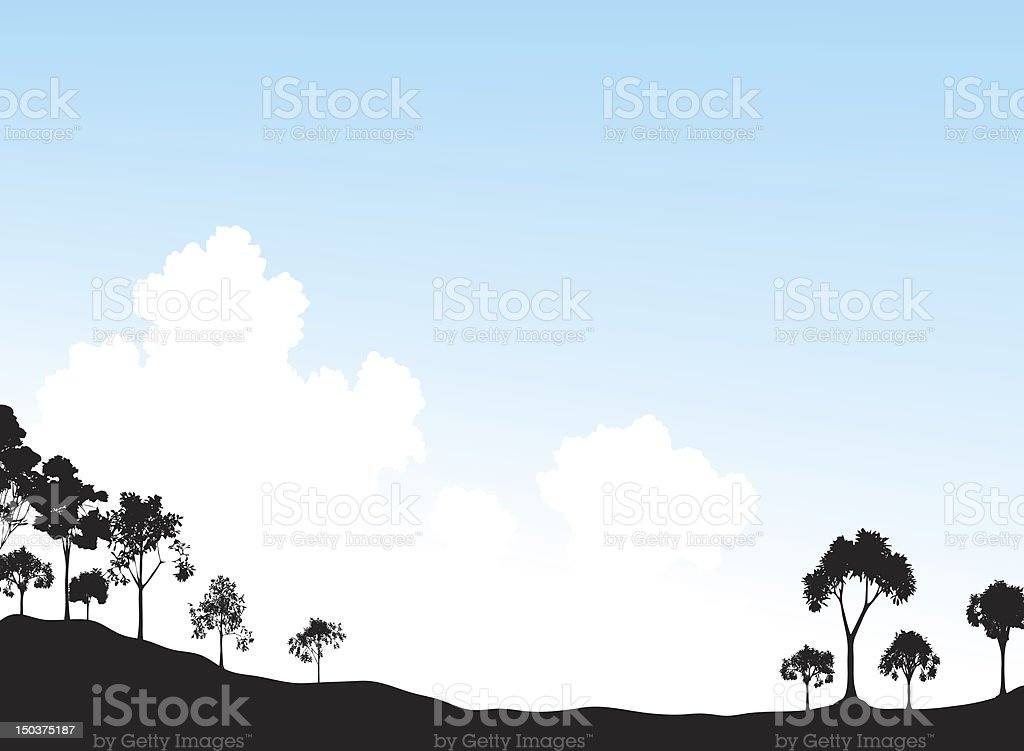 Trees and sky royalty-free stock vector art