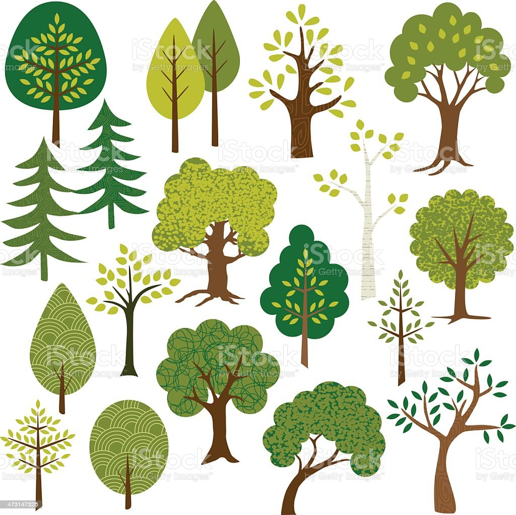trees clipart stock vector art more images of 2015 473147326 istock rh istockphoto com vector tree silhouette vector trees in plan