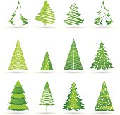 vector file of trees icons