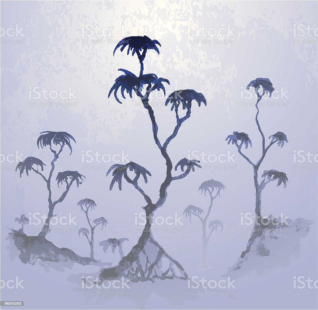 Trees in the mist royalty-free trees in the mist stock vector art & more images of backgrounds