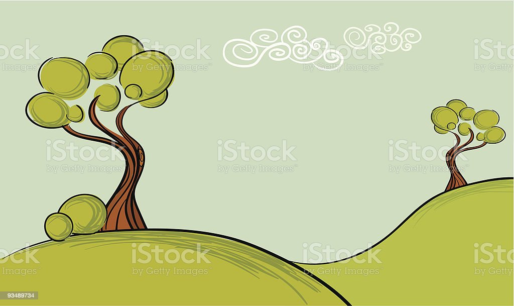 Trees Landscape royalty-free stock vector art