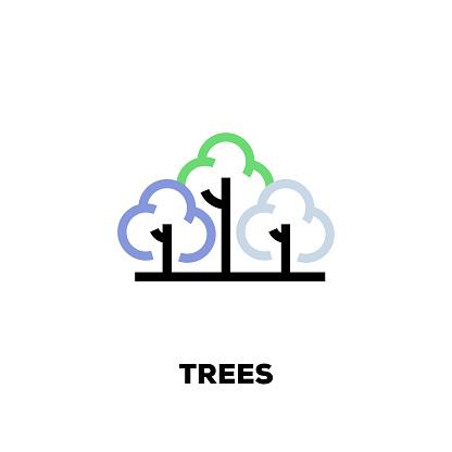 Trees Line Icon