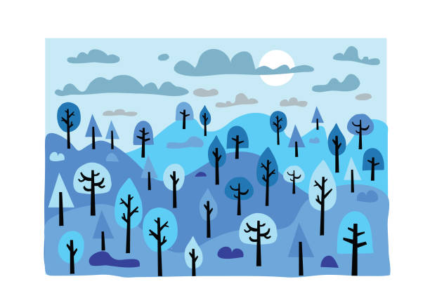 Trees Forest park Background image stock illustrations