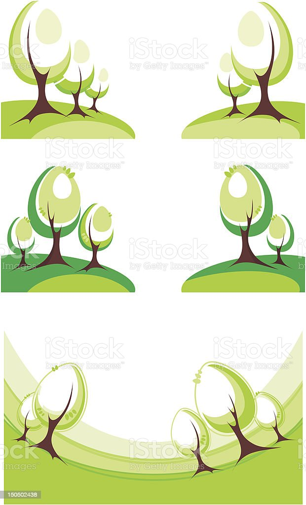 trees royalty-free trees stock vector art & more images of autumn