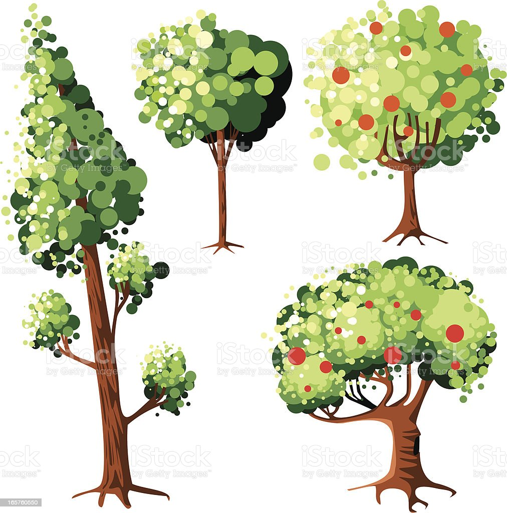 Trees royalty-free trees stock vector art & more images of environment