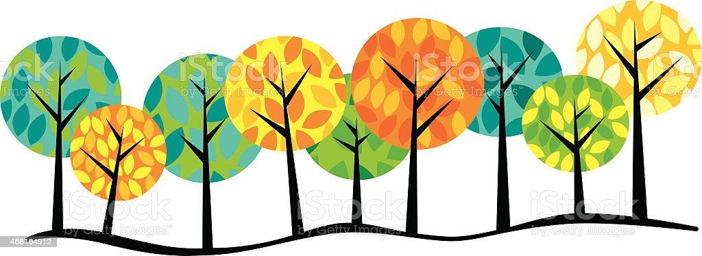Trees royalty-free trees stock vector art & more images of 2015