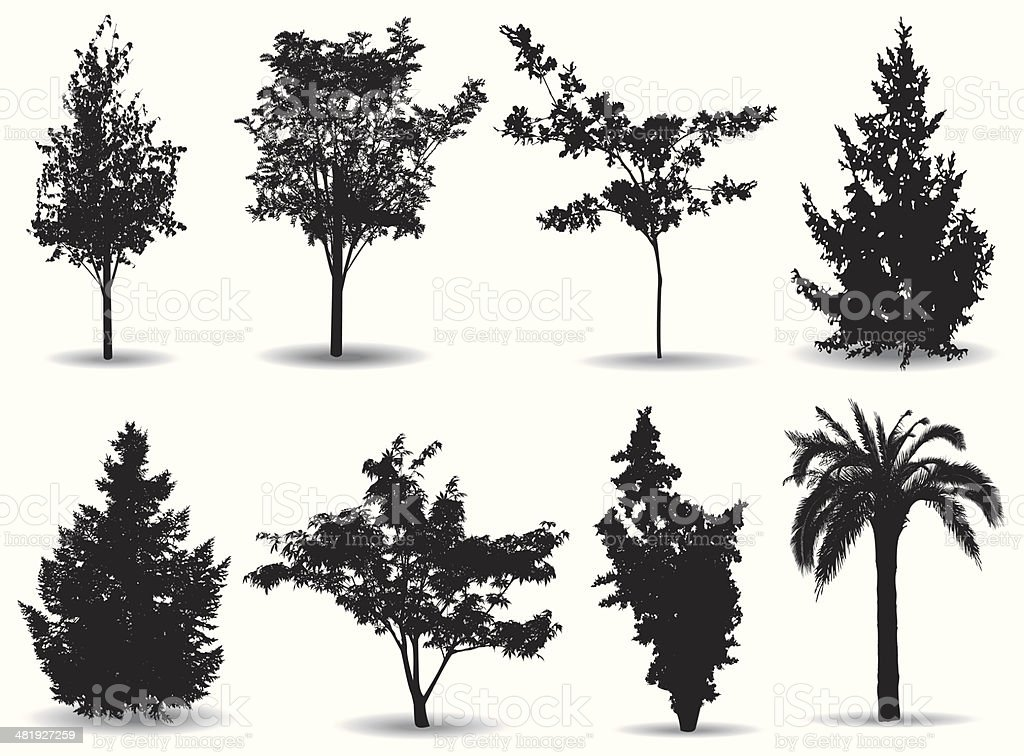 Trees royalty-free trees stock vector art & more images of black and white