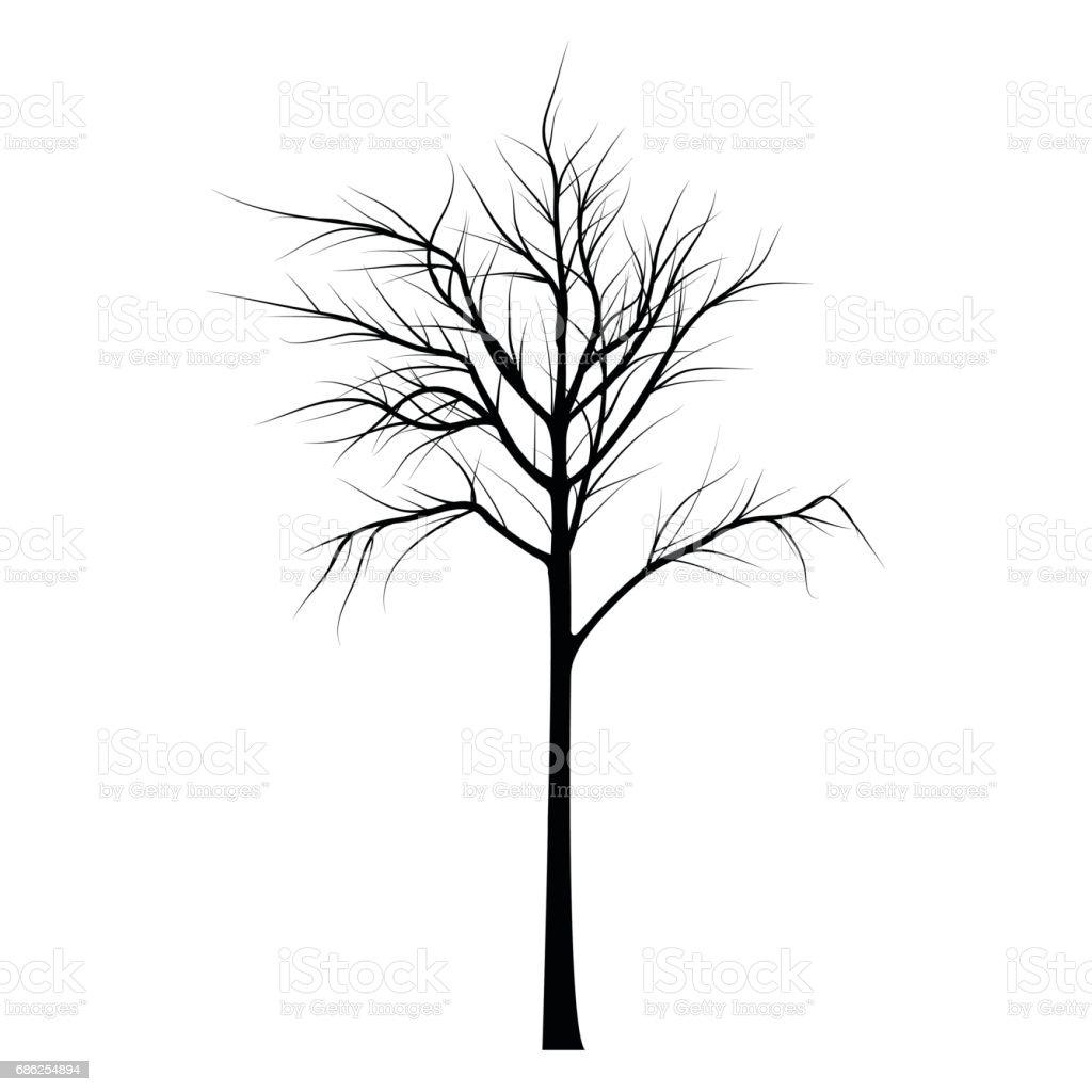 Ramas de los árboles con cadáveres - ilustración de arte vectorial