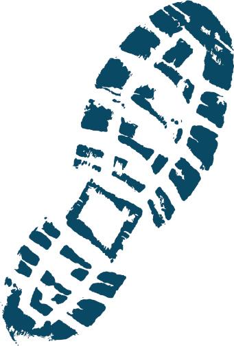 Trekkers boot print.