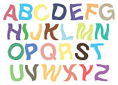 Trembling Alphabets Vector Font Design