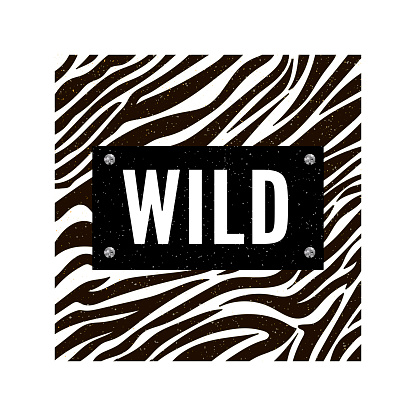 Trend wild zebra element with tiger signs. Believe in love and love yourself vintage leopard style, jaguar fashion slogan for t-shirt for girl. Vector illustration.