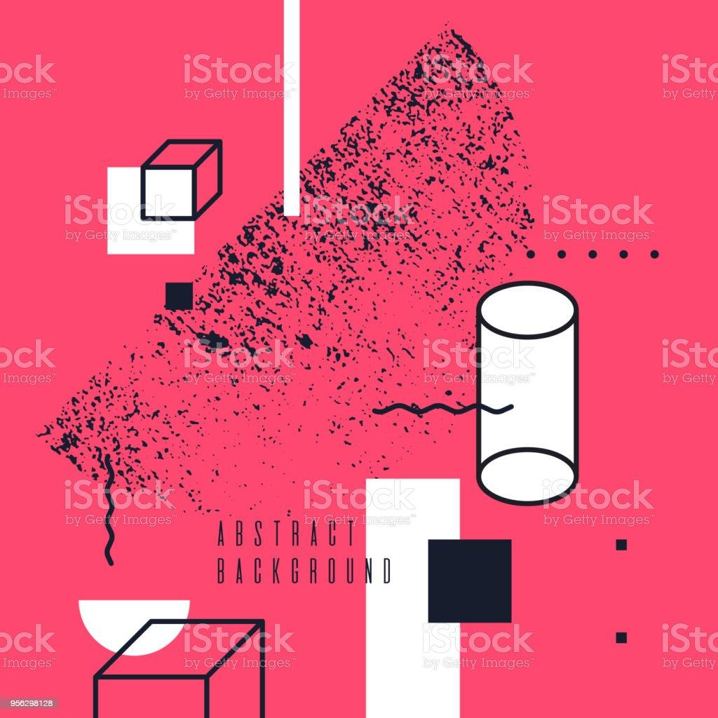 Tendance Art Abstrait Geometrique Fond Avec Style Memphis Plat Et