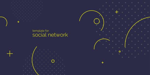 stockillustraties, clipart, cartoons en iconen met trendy abstracte kunst geometrische achtergrond met platte, minimalistische stijl. vector poster. sjabloon voor sociale netwerken - pattern