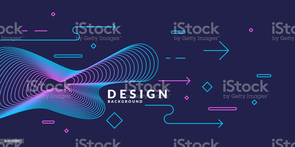 Trendy abstract art geometric background with flat, minimalistic style. Vector poster royalty-free trendy abstract art geometric background with flat minimalistic style vector poster stock illustration - download image now