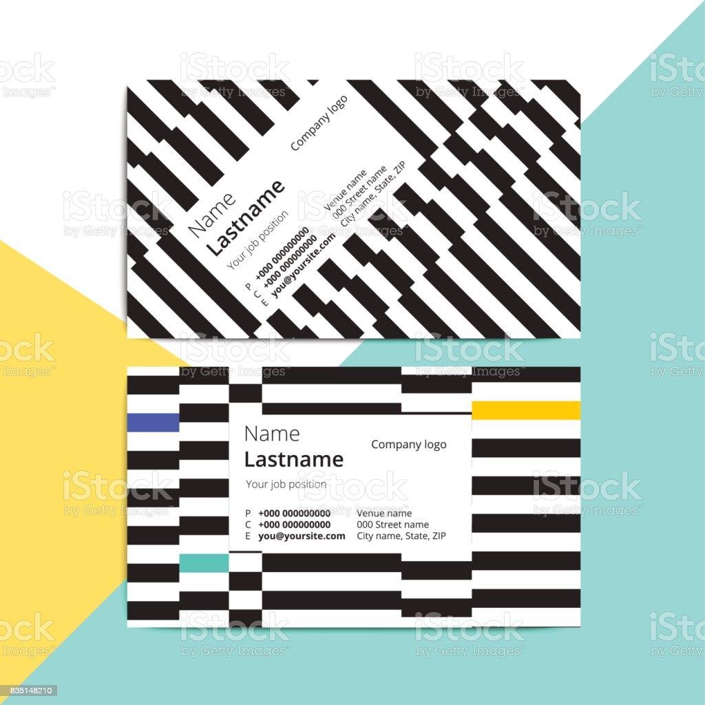 Modeles De Tendance Abstraite Carte Visite Agencement Moderne Identite Corporative Stationnaire Avec Motif