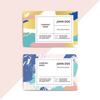 Trendy abstract business card templates.