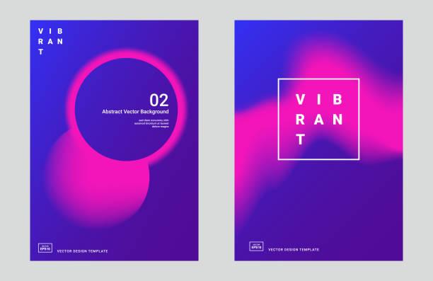 illustrazioni stock, clip art, cartoni animati e icone di tendenza di trendy abstract design templates - magenta