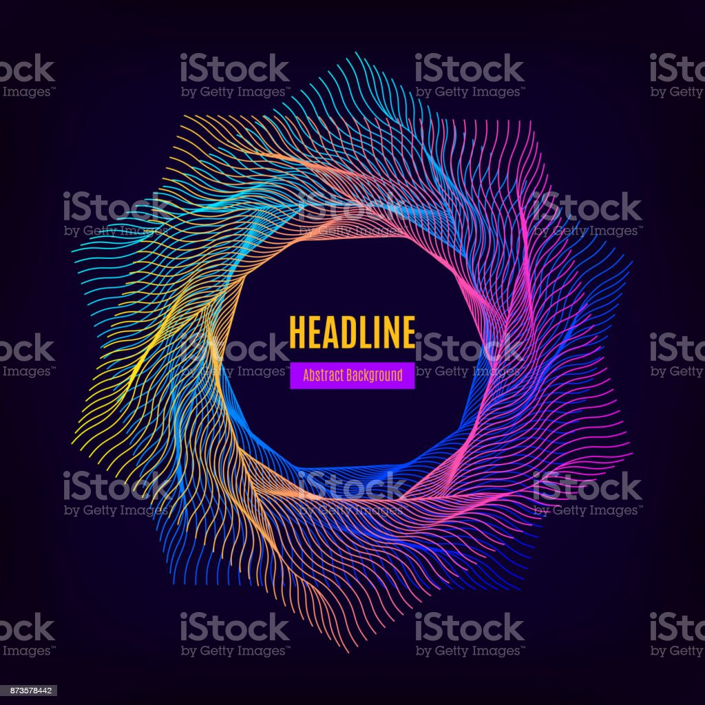 Trendige Abstrakten Geometrischen Rahmen Abzeichen Hipster ...