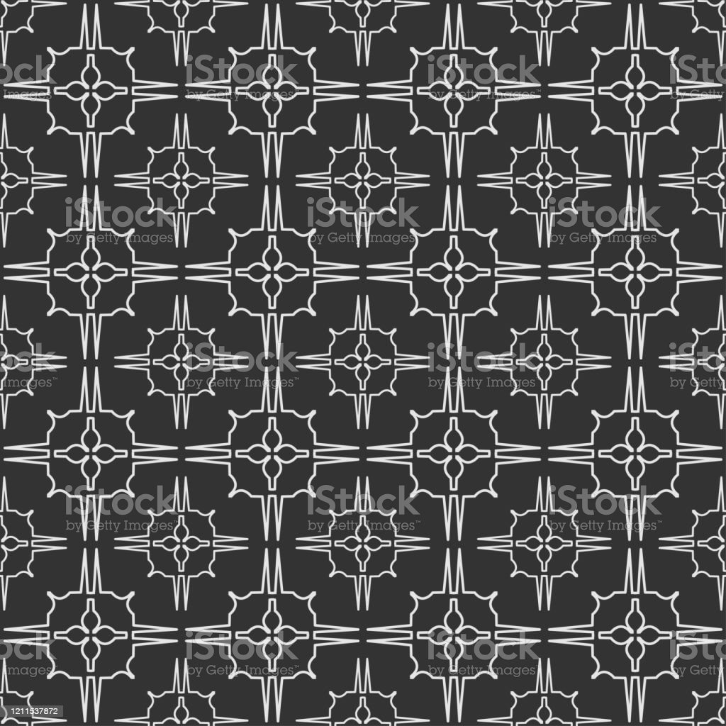 Trendy Black And White Background Wallpaper With Geometric Pattern Vector Graphics Stock Illustration Download Image Now Istock