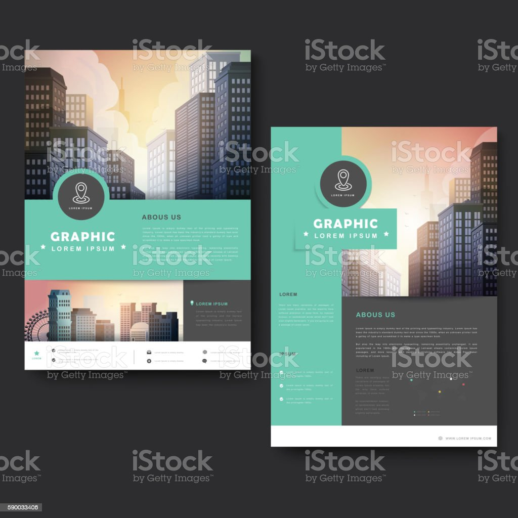 Trendy brochure template vector art illustration