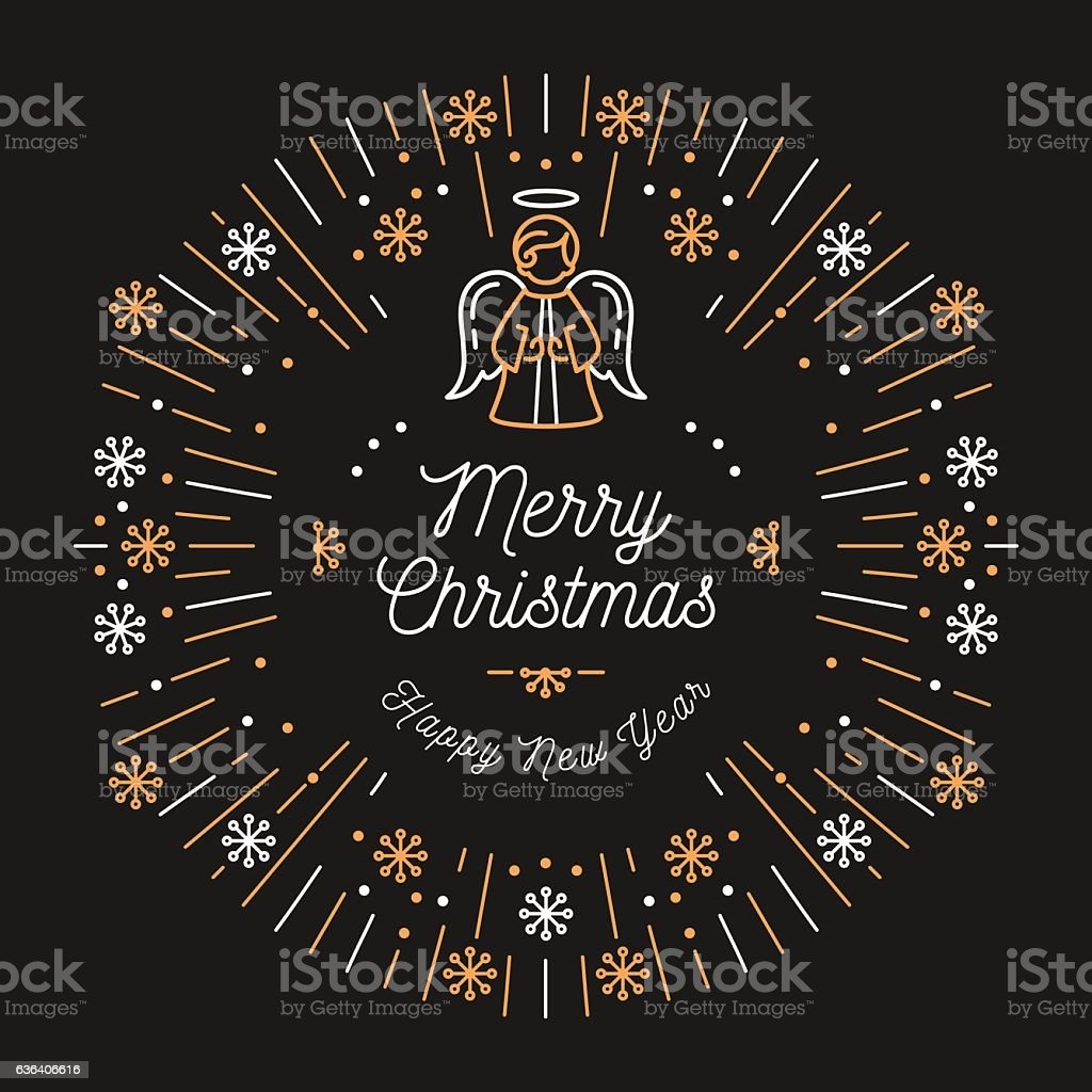 trendy christmas card happy new year minimal design art deco royalty free trendy christmas