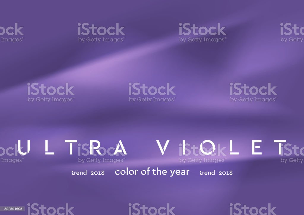 Trendy color ultra violet 2018. Smooth abstract background vector art illustration