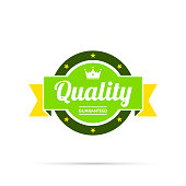 istock Trendy Colorful Badge - Quality, Guaranteed 1184604262