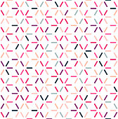 Trendy and colorful geometric composition vector pattern illustration. Abstract background design with vibrant colors.