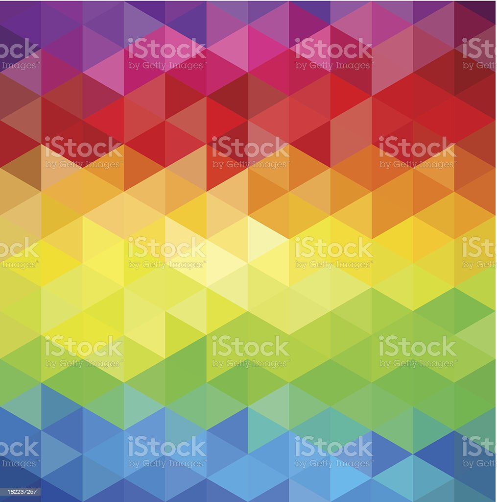 Trendy colorful vintage abstract triangle seamless pattern background EPS10 file royalty-free stock vector art