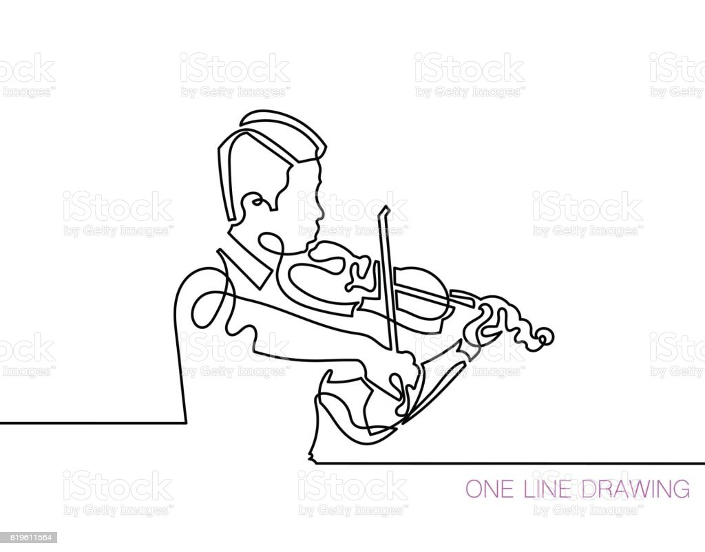 trendy continuous line black and white drawing in minimalistic s vector art illustration