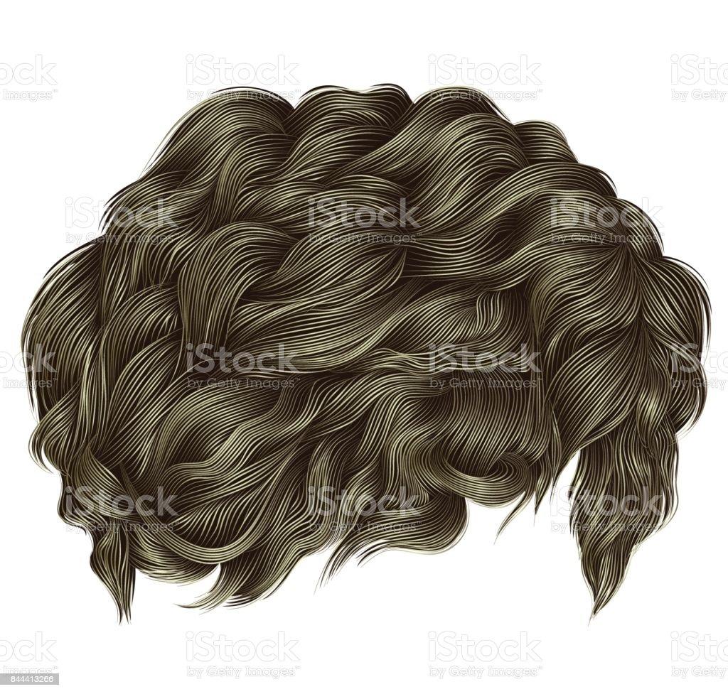 Couleurs Tendance Cheveux Bouclés Blonds Longueur Moyenne Realistic