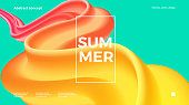 Trendy design template with fluid and liquid shapes. Abstract gradient backgrounds. Applicable for covers, websites, flyers, presentations, banners. Vector illustration. Eps10