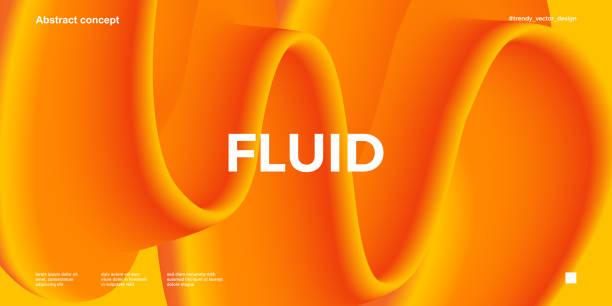 ilustrações de stock, clip art, desenhos animados e ícones de trendy design template with fluid gradient shapes - líquido