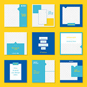 Backgrounds, Flyer - Leaflet, Advertisement, Auto Post Production Filter, Blogging, Yellow and blue colors