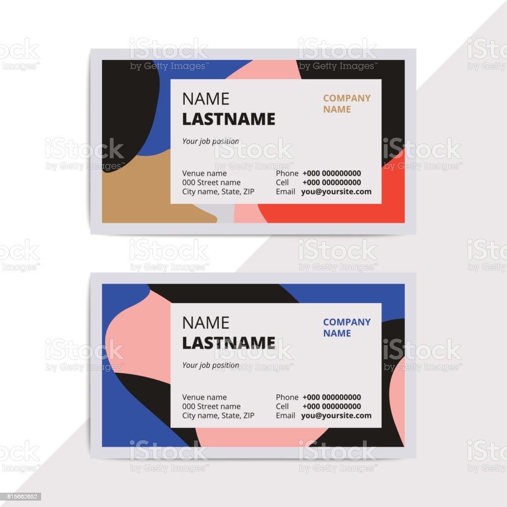 Trendige Elegante Visitenkartenvorlagen Moderne Luxus