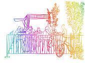 Trendy Fast Food Rainbow