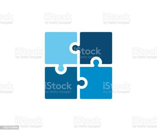 Trendy flat corporate blue puzzle icon vector illustration of four vector id1092430666?b=1&k=6&m=1092430666&s=612x612&h=rbxhrryt26l149dll7cg154azadmb erpthwbpx1hw0=