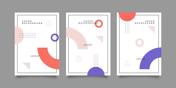 Trendy geometric art cover template