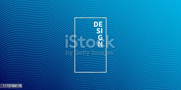 Modern and trendy abstract background. Geometric design with a beautiful gradient of curves and colors. This illustration can be used for your design, with space for your text (colors used: Blue, Black). Vector Illustration (EPS10, well layered and grouped), wide format (2:1). Easy to edit, manipulate, resize or colorize.