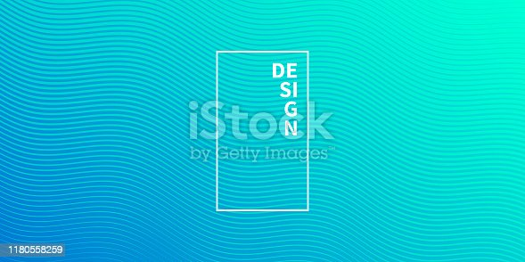 Modern and trendy abstract background. Geometric design with a beautiful gradient of curves and colors. This illustration can be used for your design, with space for your text (colors used: Turquoise, Green, Blue). Vector Illustration (EPS10, well layered and grouped), wide format (2:1). Easy to edit, manipulate, resize or colorize.