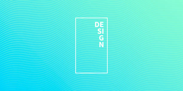 Trendy geometric design - Blue abstract background vector art illustration