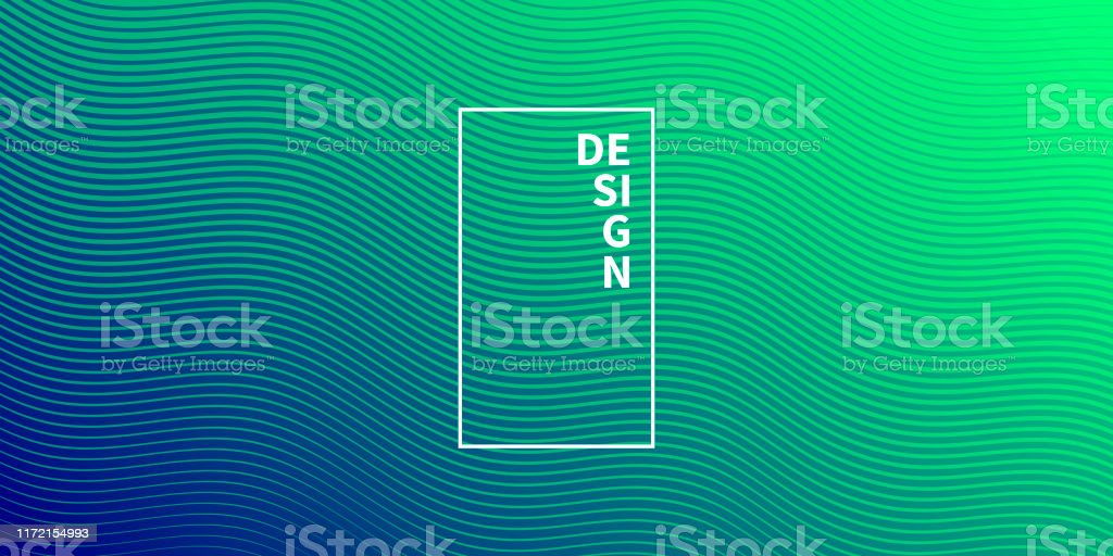 Trendy geometric design - Green abstract background - Royalty-free Abstract stock vector